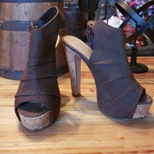 Gorgeous platform cork heels.
